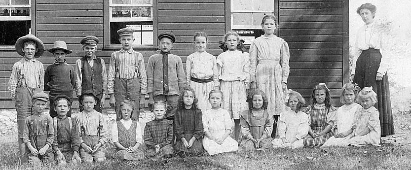 Photograph of a school class at Elphin, Ontario, about 1910.