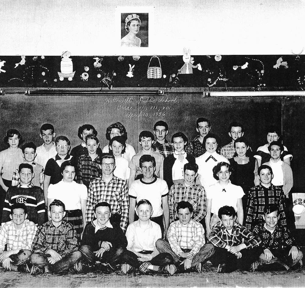 Huttonville Public School, 1956 Class Photo