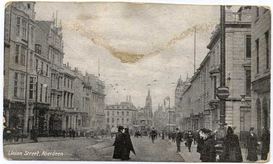 Postcard showing Union Street Aberdeen, Scotland