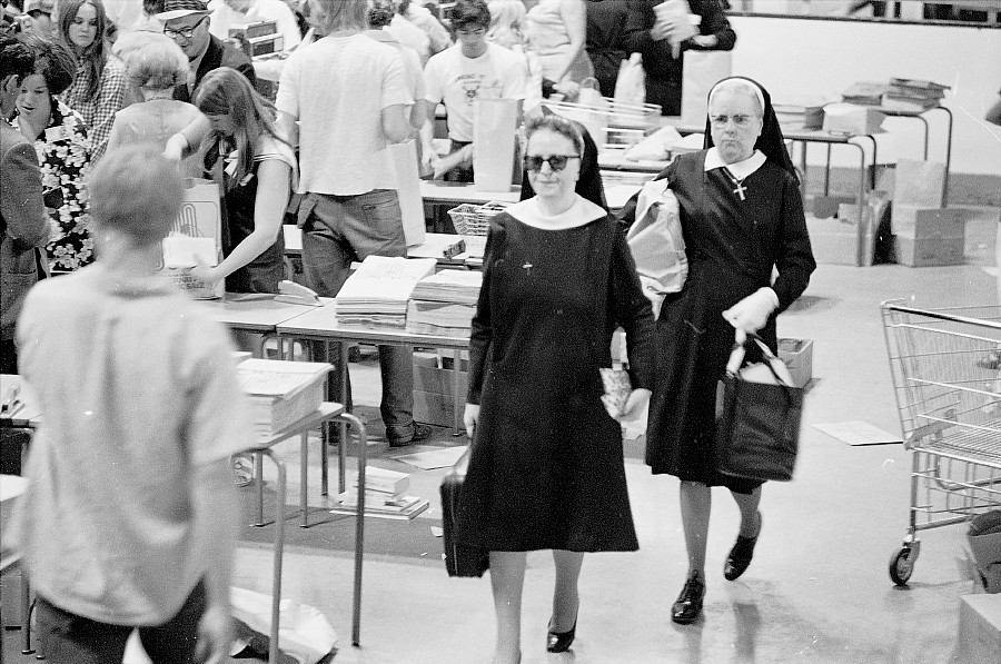 Booksale at Maple Leaf Gardens, Toronto, 1972.